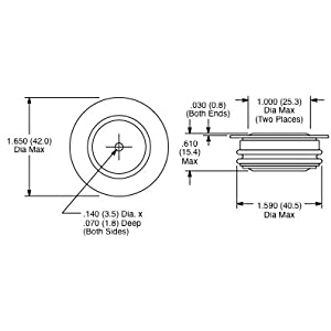 NTE6114 1100 Amp @ 1600 Volt Hockey Puck Style Rectifier Diode