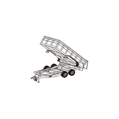 Hydraulic Dump Tandem Axle Trailer Blueprints