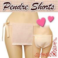 パンドルショーツ(ふんどし)オーガニックチェック 女性用 ピンク