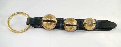 Premium Black Leather Horse Sleigh Bell Door Knocker 3