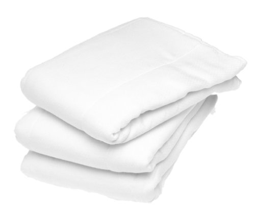 Gerber 12-Pack Prefold Birdseye 3-Ply Cloth Diapers with Padding - White