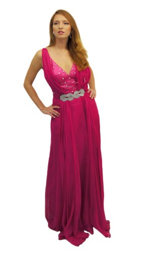E And Lisa Abendkleid Dana Pink Mit Strass