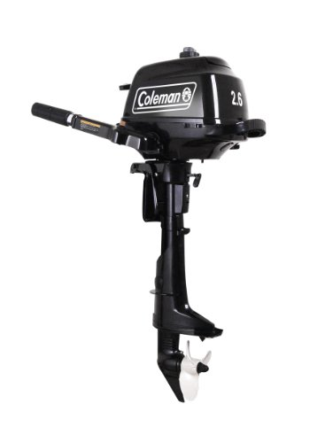 Cheap Coleman 2 6hp Manual Start Outboard Motor Black