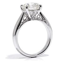 VS 0.52Ct Round Diamond Solitaire Engagement Ring 18k Gold ...