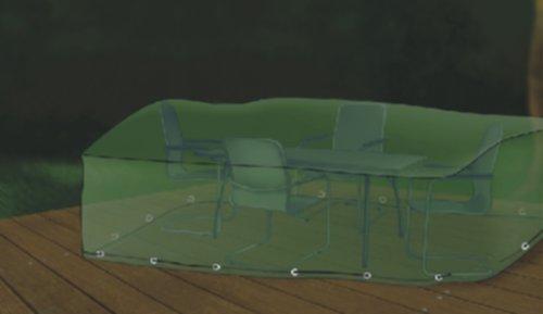 Premium Abdeckung Gartenmöbel Schutzhülle für Sitzgruppe Rechteckig 295x210cm