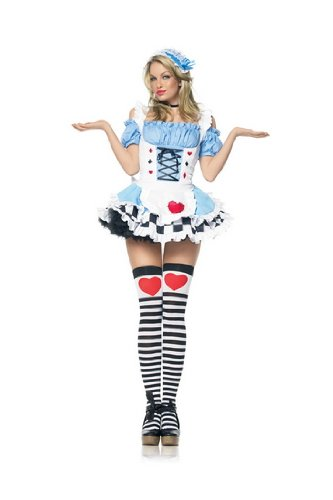 Sexy Adult Womens Halloween Costumes Storybook Alice In Wonderland Costume Dress Theme Party Outfit Leg Avenue