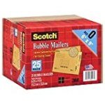 Scotch 3M Bubble Mailers Size 0 (6″ x 9″) – 25ct for $10.42 + Shipping