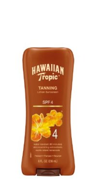 Hawaiian Tropic Sunscreen Protective Dark Tannning Sun Care Sunscreen Lotion - SPF 4, 8 Ounce