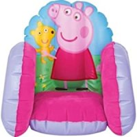 Peppa Pig Flocked Inflatable Chair.: Amazon.co.uk: Toys ...