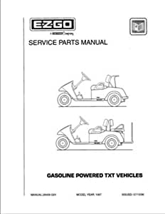 Amazon.com : EZGO 28408G01 1997 Service Parts Manual for
