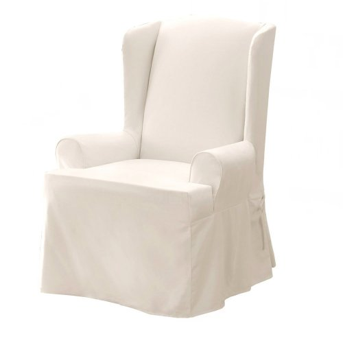 We have Sure Fit Twil Supreme Wing Chair Slipcover - White Wing Chair with
