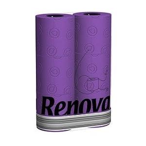 Renova Toilettenpapier in Folie 6 Rollen - Lila / Violett