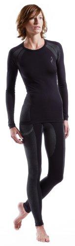 Nebulus Thermounterwäsche Body-Fit Set, Skiunterwäsche, Shirt und Hose, Damen, schwarz, lang (Q080)