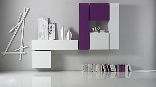 Würfelelement 1-türig Box, 57 x 51 x 31 cm, weiß hochglanz