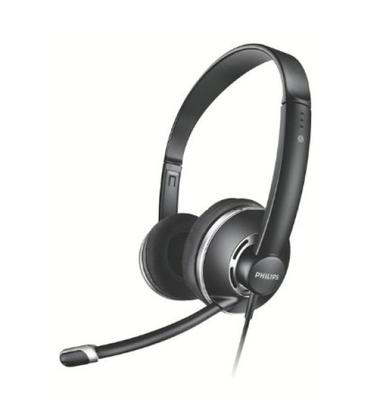 Philips SHM7410/97 PC Headset with Mic (Black)