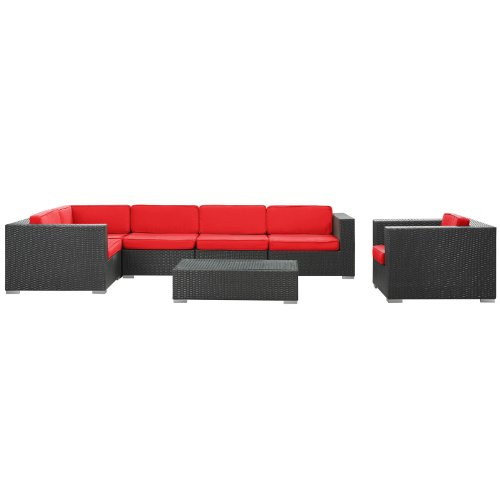 cost to recover sectional sofa best beds canada corona set espresso red color guide! - (*_*)