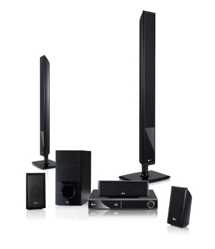 LG HX806PG 3D 5.1 Blu Ray Heimkinosystem (HDMI, DVD) schwarz