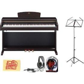 Yamaha YDP181 Digital Piano Bundle with Headphones, Music Stand, and Polishing Cloth