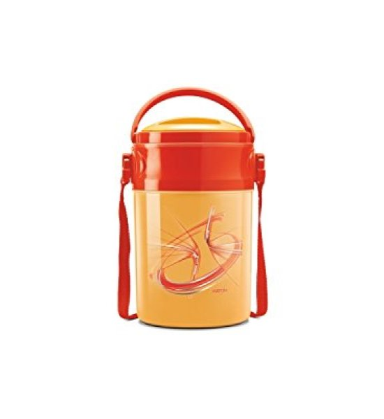 Milton Odyssy Deluxe 4 Containers yelllow/red Lunch box
