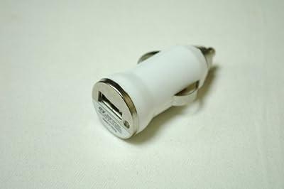 汎用 電源 シガー ソケット + USB 充電 【ADVANTAGE】 ナビ スマートフォン バイク などに (USBチャージャー(白))