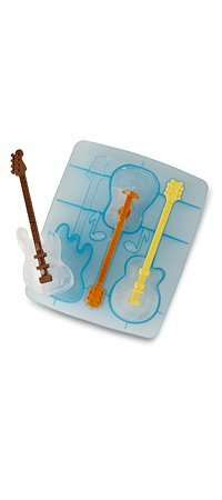FRED Cool Jazz Ice Cube Stirs (set of 3) Guitar shaped ice tray drink Stirrers Swizzle Sticks
