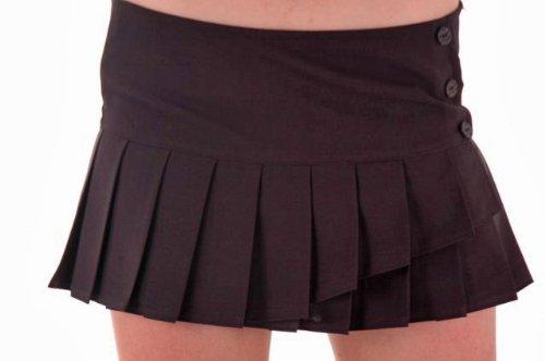 EyeCatchClothing - Roxy tiefsitzender Damen Minirock - Schwarz