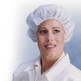 polypropylene polypropylene protective hair cover one size fits all white science lab caps