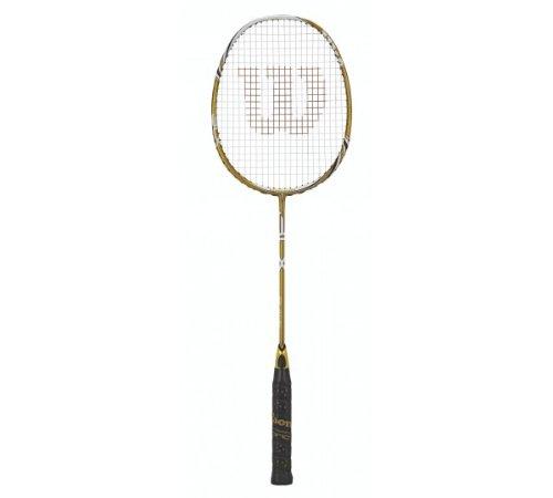 Best Cyber Monday Wilson Blade BLX Badminton Racquet (Gold, 674 mm