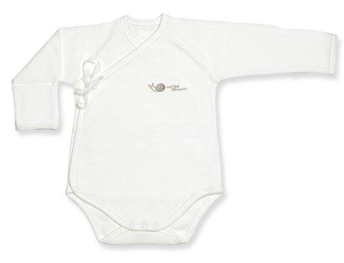 Niteo Unisex Baby Long Sleeve Organic Kimono Bodysuit with
