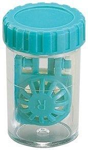 Barrel Stil Kontaktlinsenbehälter - AQUA ~ (3 pack)