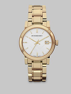 s swiss gold-tone stainless steel bracelet 34mm bu9103,burberry watch,video review,women,(VIDEO Review) Burberry Watch, Women's Swiss Gold-Tone Stainless Steel Bracelet 34mm BU9103,