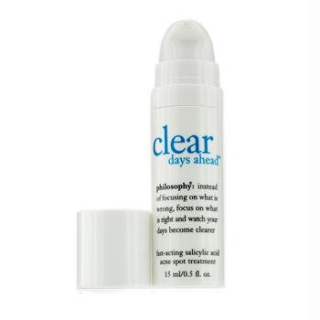 Philosophy Clear Days Ahead Fast-Acting Salicylic Acid Acne Spot Treatment, 0.5 Ounce