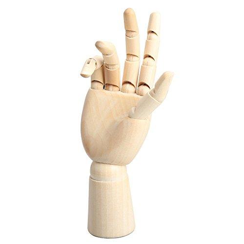 SUMERSHA Rechte oder Linke Hand zufällig gelieferte Modell flexibel Holz Malen Modell