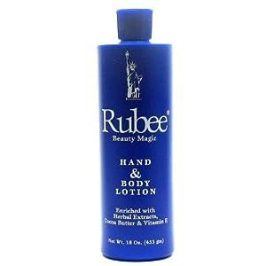 Amazoncom  Rubee Hand  Body Lotion 16 oz  Body Scrubs
