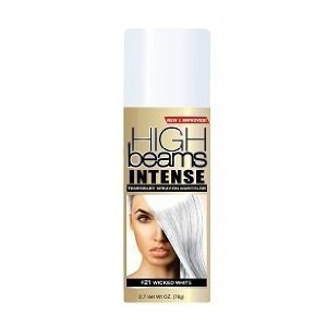 high beams intense temporary spray on hair color wicked white 2 7 oz chemical