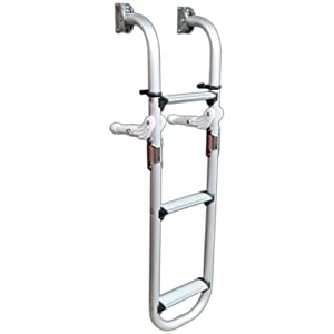 Amazon.com : 3 Steps Aluminum Folding Transom Ladder for