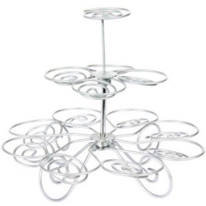 vintage cup: NEW 277 VINTAGE KITCHEN WIRE CUPCAKE STAND