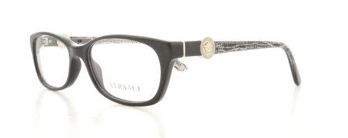 Versace Damen Korrektionsbrille VE3164 Shiny Black