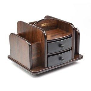 Small Organizer Storage Desktop Desk Sorter Stuff Holder Tray Wood Office home  eBay