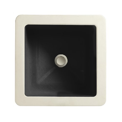 porcher 12120 00 178 marquee petite square under counter lavatory with overflow black jeanie j borderser