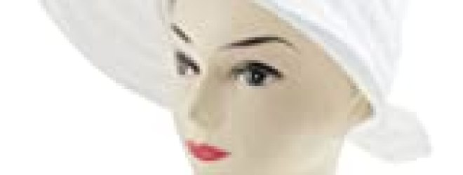 Allegra K Lady Zipper Closure Bowknot Detail Poke Bonnet Lierihattu Hat White