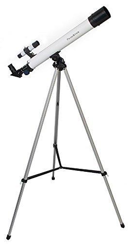 White TwinStar AstroMark 50mm 75x Refractor Telescope Kids