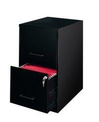 2 drawer file cabinet: Lorell 14341 18 Deep 2-Drawer File ...