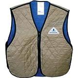 Hyper Kewl Evaporative Cooling Vest, Khaki, Size: Md, 6529KH-M