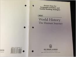 Holt World History The Human Journey Answer Keys For