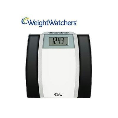 Buy Low Price Weightwatchers Ww78 Glass Body Fat Scale Black And Chrome 400 Lb Capacity Ww78