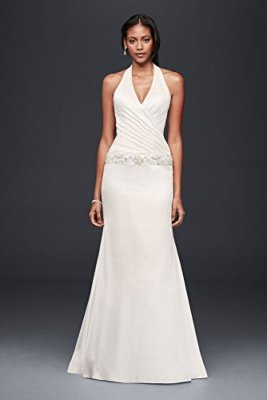 Charmeuse-Trumpet-Wedding-Dress-with-Beaded-Waist-Style-OP1294