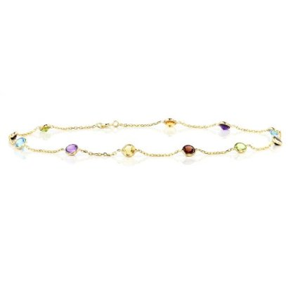 14k-Yellow-Gold-Station-Anklet-with-Round-4mm-Gemstones-By-the-Yard