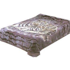 Amazoncom Solaron Queen Two Tigers Korean Mink Blanket