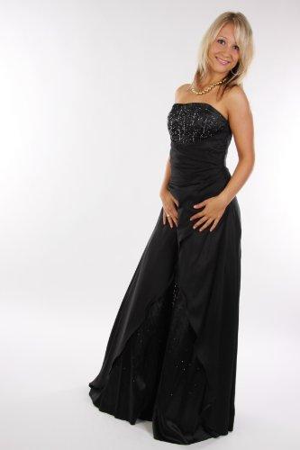 2007 Abendkleid lang, schulterfrei, schwarz Größe 46